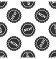 label new sign icon seamless pattern vector image vector image
