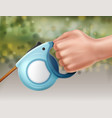 leash in hand vector image vector image