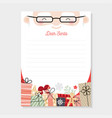 letter to santa christmas wishlist vector image vector image