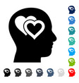 love in mind icon vector image vector image