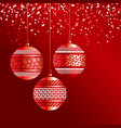 luxury red xmas bubbles with gold decor vector image vector image