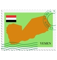 mail to-from Yemen vector image vector image