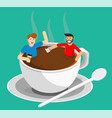meeting coffee vector image vector image