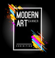 Modern art banner abstract background