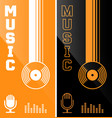 music banner or flyer design vector image