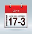 Oktoberfest calendar icon vector image vector image