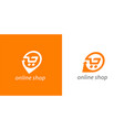 online shopping cart logo icon vector image