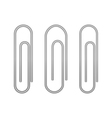 paperclip icons on a white vector image