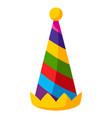 party cap in cartoon style cute vector image