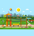 playground in city park vector image