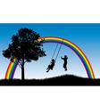Rainbow swings vector image vector image