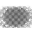 realistic snow flakes oval frame border vector image