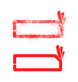 red grunge rubber stamp ok sign vector image vector image