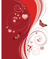 Red swirl ornament vector image vector image