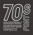 retro 70s capital alphabet letters collection can vector image vector image