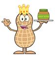 Royalty Free RF Clipart King Peanut Cartoon vector image vector image