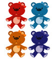 set four pictures teddybears in different vector image vector image