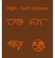 Set of high-tech glasses simple icons vector image vector image
