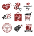 set valentines day sales labels vintage vector image vector image