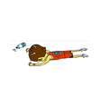 Side view of boy lying down vector image vector image