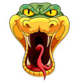 snake head with a long forked tongue vector image vector image