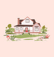 summer cottage or beautiful two-storey suburban vector image