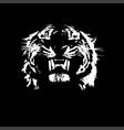 tiger walking from dark logo design vector image vector image