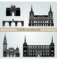Toledo landmarks and monuments vector image vector image