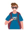 tourist man design vector image vector image