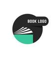 black round book logo vector image