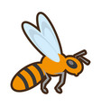 cartoon bee insect flower pollen vector image