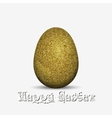 Gold glitter easter holiday egg vector image