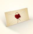 Old vintage style envelope vector image