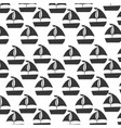 sailboat sea pattern background vector image