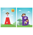 a set of pictures for learning the english vector image vector image
