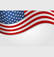 american flag stylish design vector image vector image