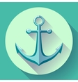Anchor text icon Flat design vector image