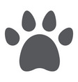 animal footprint glyph icon pet and trace paw vector image vector image