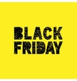 Black Friday grunge stamp on yellow background vector image