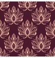 Burgundy and pink damask floral pattern vector image