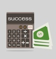 business concept with calculator icon success vector image vector image