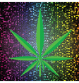 cannabis background vector image vector image