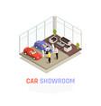 car dealership concept vector image vector image