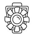 car motor ventilator icon outline style vector image