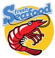 cartoon prawn vector image