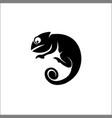 chameleon reptiles symbol silhouette logo vector image