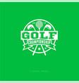 championship golf emblem golf club logo vector image