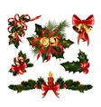 Christmas decorations with fir tree and decorative