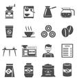 Coffee Shop Black Icons Set vector image vector image