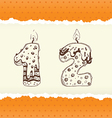 collection birthday candles 1 and 2 vector image vector image